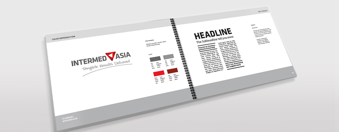 Intermed Asia (Corporate Design und Werbung): Styleguide