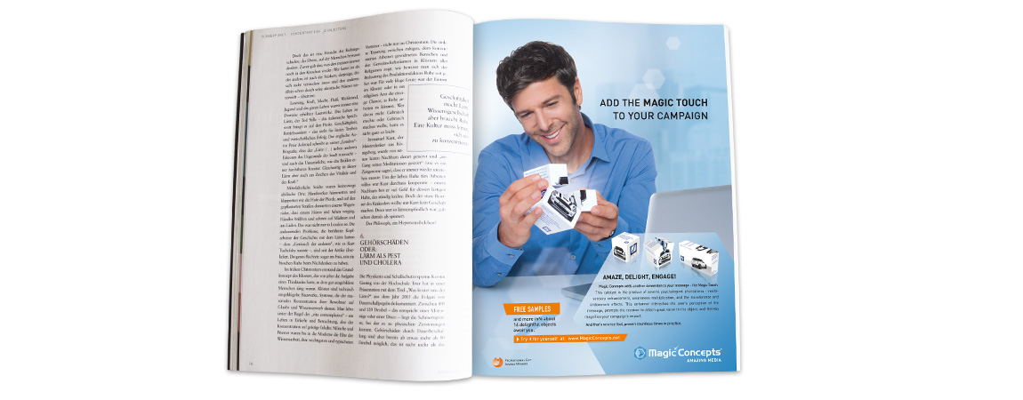 Magic Concepts (Corporate Design und Werbung): Anzeige