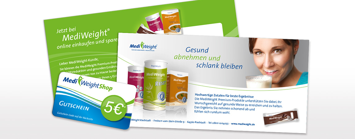 MediWeight (Corporate Design und Packaging): Gutscheinkarte