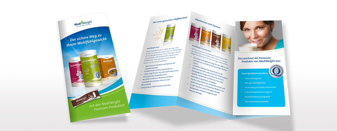 MediWeight (Corporate Design und Packaging): Flyer